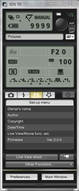 Canon Firmware 2.00 Updated