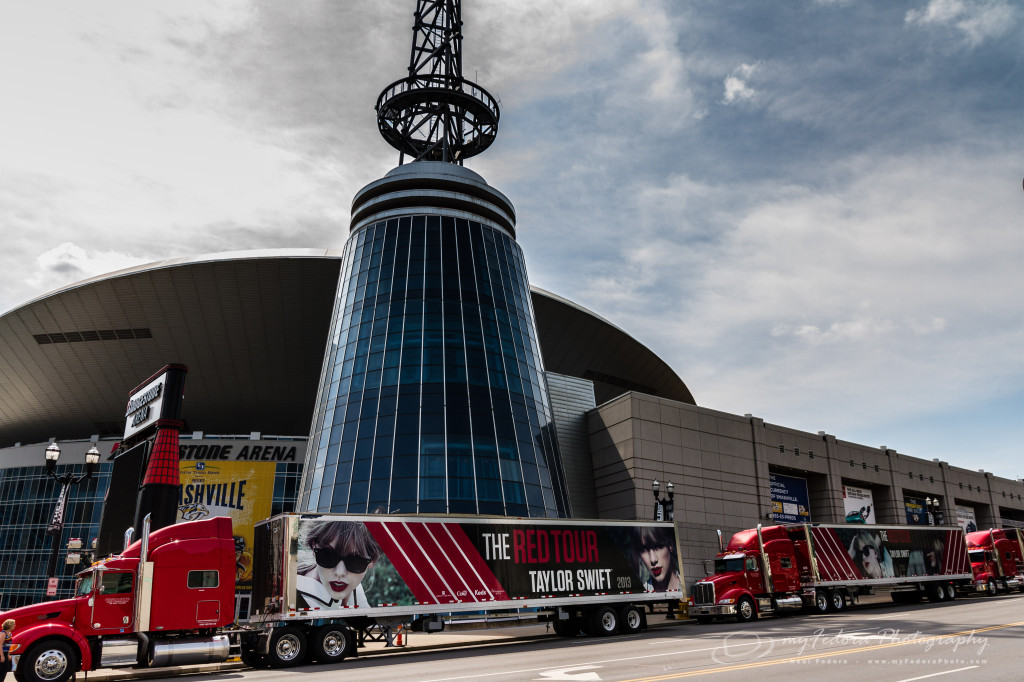 Taylor Swift's Red Tour Buses