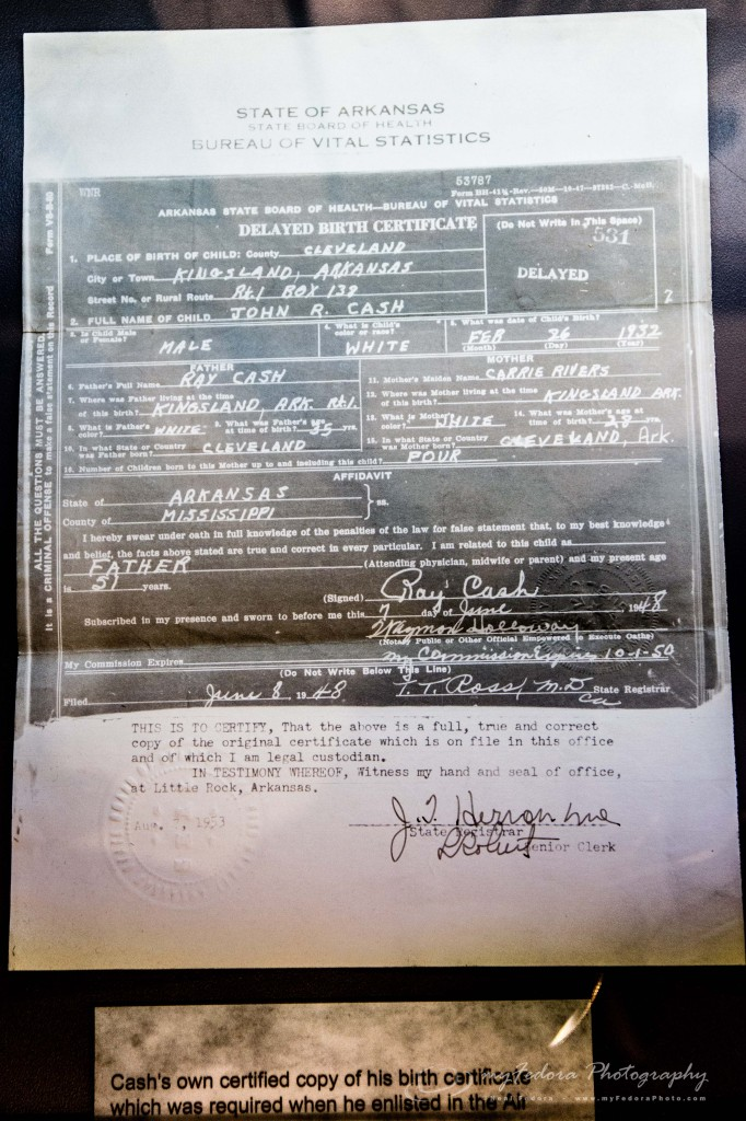 J.R. Cash's Birth Certificate