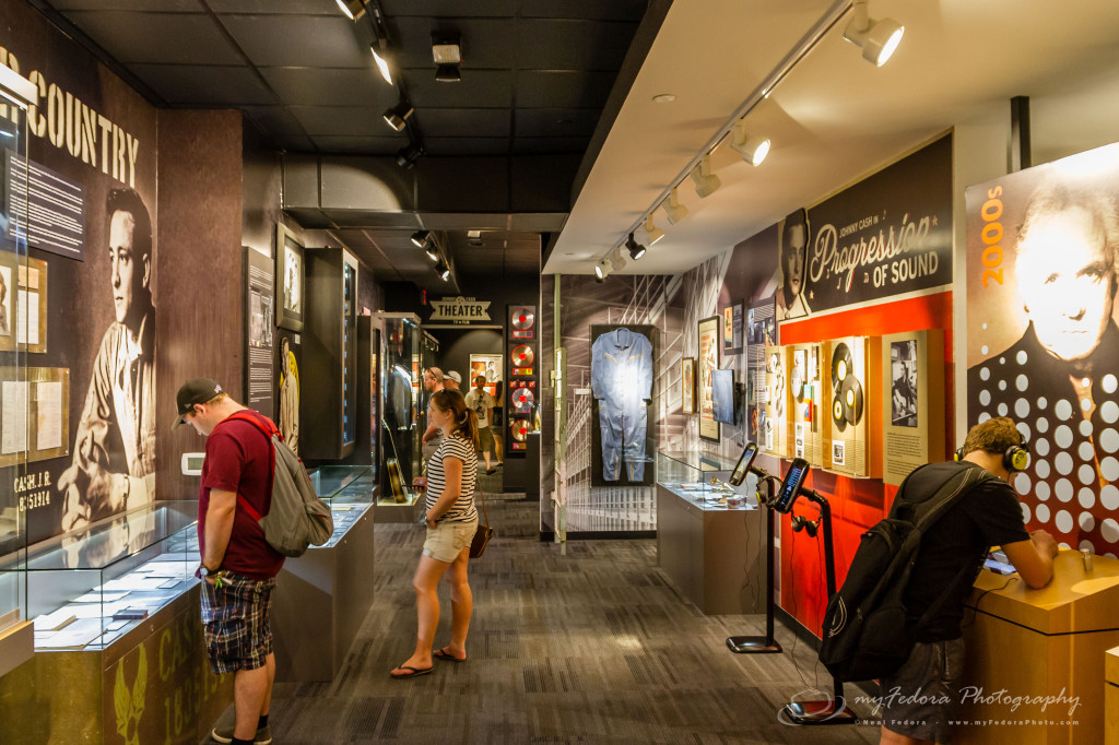 The museum and exhibits when you first walk in.