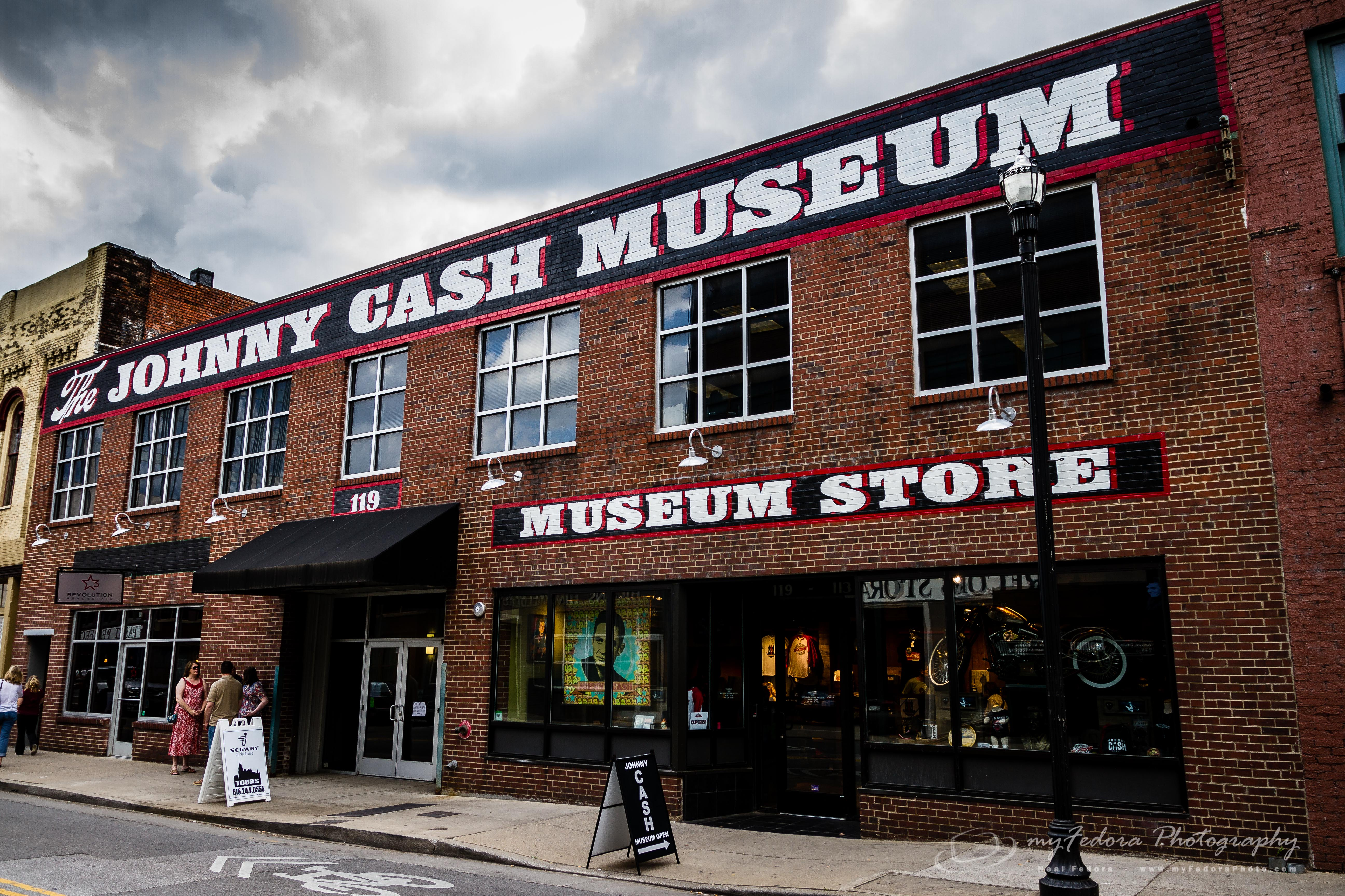 Outside of the Johnny Cash Museum in Nashville, TN