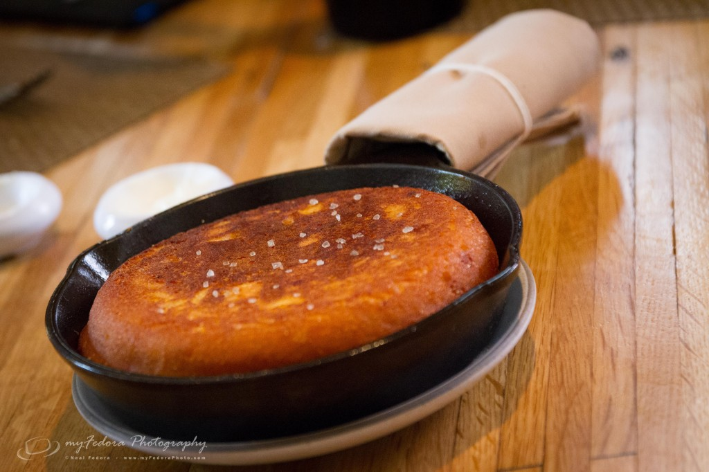 A side of a Skillet of Cornbread with Allan Benton's Tennessee Bacon